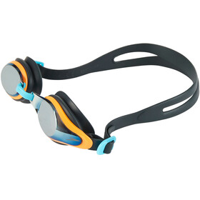 speedo Mariner Supreme Mirror Goggle Juniors Oxid Grey/Jaffa/Titanium